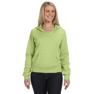 Women's Garment-dyed Front-slit Hoodie Celedon Pullover
