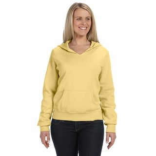 Women's Garment-dyed Front-slit Hoodie Butter Pullover