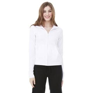 Cotton/ Spandex Women's Cadet White Jacket