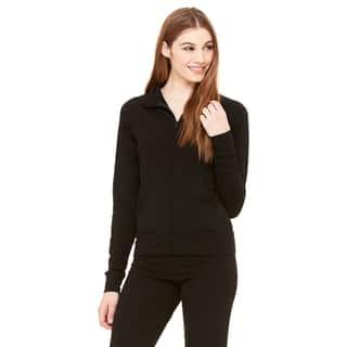 Cotton/ Spandex Women's Cadet Black Jacket|https://ak1.ostkcdn.com/images/products/12264770/P19104856.jpg?impolicy=medium