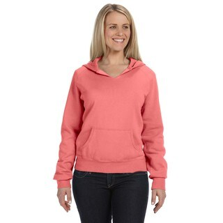 Women's Garment-dyed Front-slit Hoodie Watermelon Pullover
