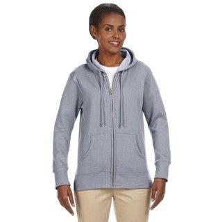 Women's Organic/ Recycled Heathered Fleece Athletic Grey Full-zip Hoodie