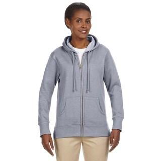 Women's / Recycled Heathered Fleece Athletic Grey Full-zip Hoodie