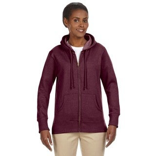 Women's Organic/ Recycled Heathered Fleece Berry Full-zip Hoodie
