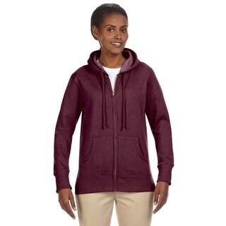 Women's / Recycled Heathered Fleece Berry Full-zip Hoodie