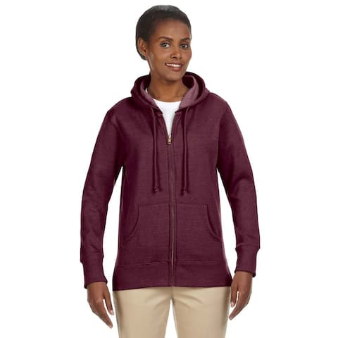 Women's / Recycled Heathered Fleece Berry Full-zip Hoodie