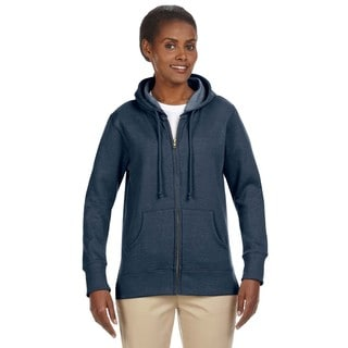 Women's Organic/ Recycled Heathered Fleece Water Full-zip Hoodie