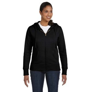 Women's Organic/ Recycled Black Full-zip Hoodie