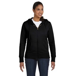Women's / Recycled Black Full-zip Hoodie (4 options available)