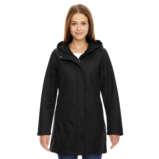 City Textured Women's Three-layer Fleece Bonded Soft Shell Black 703 Jacket