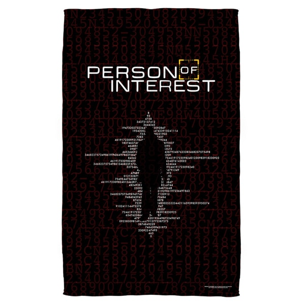 Person Of Interest/Numbers Polyester Beach Towel