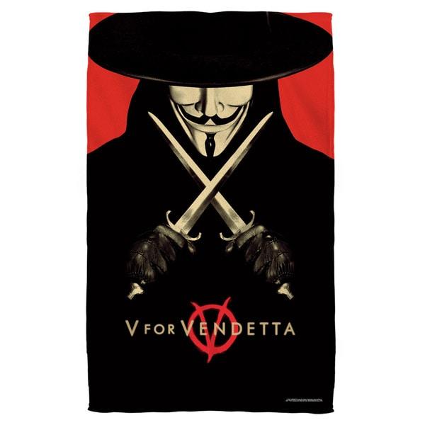 V For Vendetta/V Polyester Beach Towel