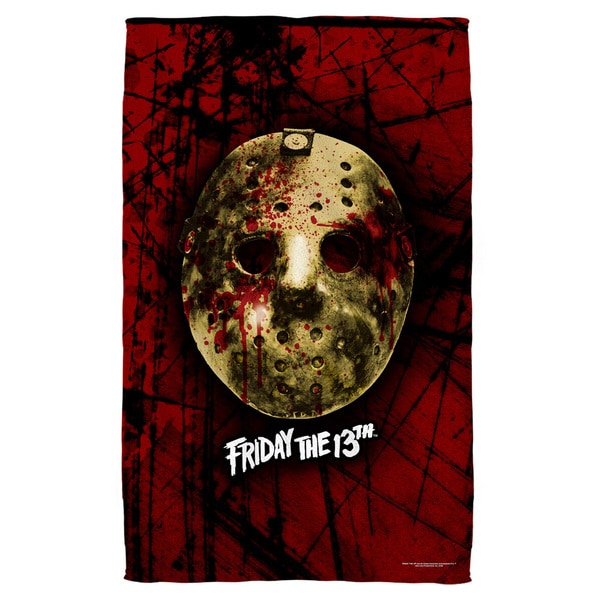Friday The 13Th/Bloody Mask Polyester Beach Towel
