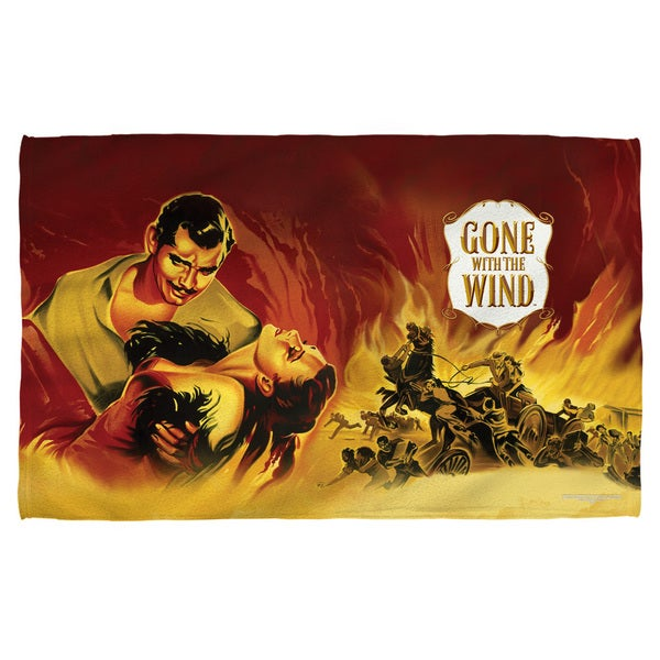 Gone With The Wind/Fire Poster Polyester Beach Towel