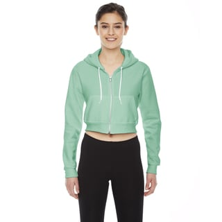 Cropped Women's Flex Fleece Zip Menthe Hoodie
