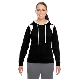 Elite Women's Performance Black/ White Hoodie