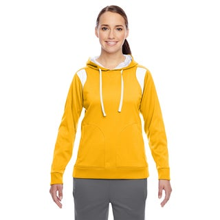 Elite Women's Performance Sport Ath Gold/ White Hoodie