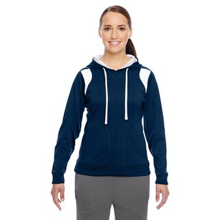 Elite Women's Performance Sport Dark Navy/ White Hoodie