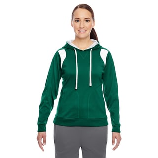 Elite Women's Performance Sport Forest/ White Hoodie