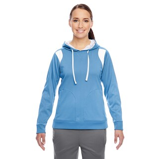 Elite Women's Performance Sport Light Blue/ White Hoodie