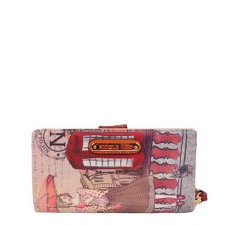 Nicole Lee Gitana Telephone Booth Faux Leather and Nylon Wallet