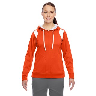 Elite Women's Performance Sport Orange/ White Hoodie
