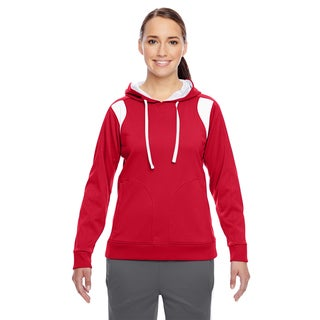 Elite Women's Performance Sport Red/ White Hoodie