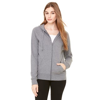 Fleece Women's Full-zip Raglan Deep Heather Hoodie