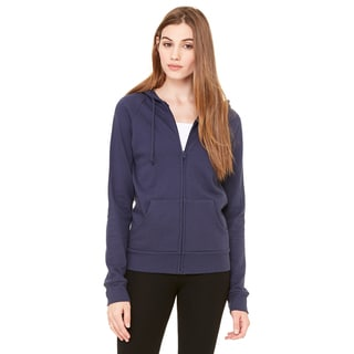 Fleece Women's Full-zip Raglan Navy Hoodie