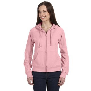 Fleece Women's Full-zip Raglan Pink Hoodie