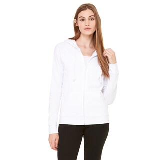 Fleece Women's Full-zip Raglan White Hoodie