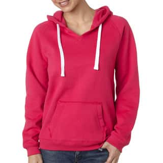 Sydney Women's Brushed V-neck Wildberry Hoodie|https://ak1.ostkcdn.com/images/products/12264925/P19105026.jpg?impolicy=medium