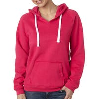Sydney Women's Brushed V-neck Wildberry Hoodie