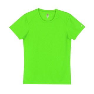 B-core Women's Short-sleeve Performance Lime T-shirt