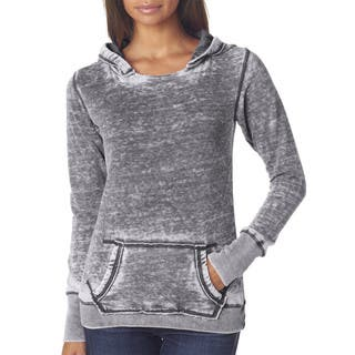 Zen Women's Fleece Hoodie Dark Smoke Pullover|https://ak1.ostkcdn.com/images/products/12264943/P19105032.jpg?impolicy=medium