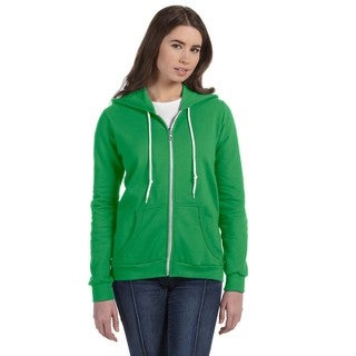 Full-zip Women's Green Apple Hooded Fleece