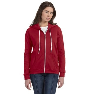 Full-zip Women's Independence Red Hooded Fleece