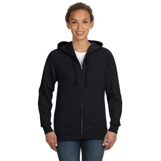 Full-zip Women's Black Hoodie