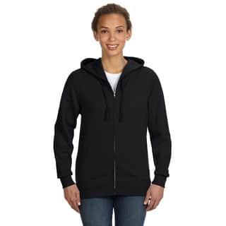 Full-zip Women's Black Hoodie|https://ak1.ostkcdn.com/images/products/12264964/P19105039.jpg?impolicy=medium