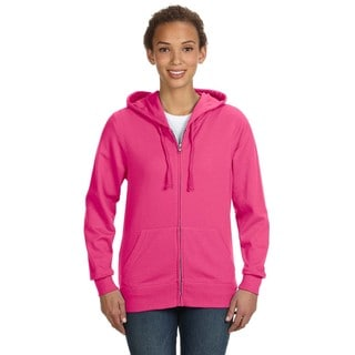 Full-zip Women's Hot Pink Hoodie