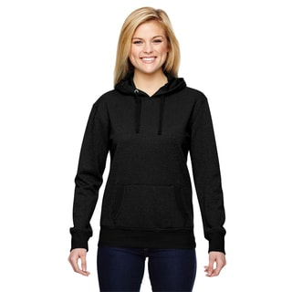 Glitter French Women's Terry Black Hoodie
