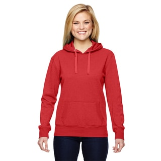 Glitter French Women's Terry Red Hoodie