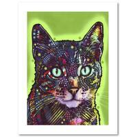 Dean Russo 'Watchful Cat' Paper Art