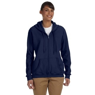 Heavy Blend Women's 50/50 Navy Full-zip Hoodie