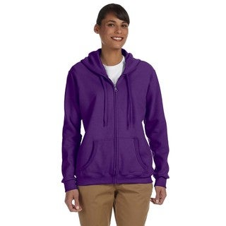 Heavy Blend Women's 50/50 Purple Full-zip Hoodie
