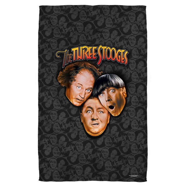 Three Stooges/Stooges All Over Polyester Beach Towel