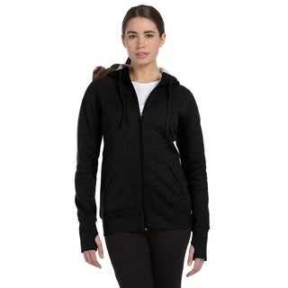 Performance Fleece Women's with Runner's Thumb Black Full-zip Hoodie