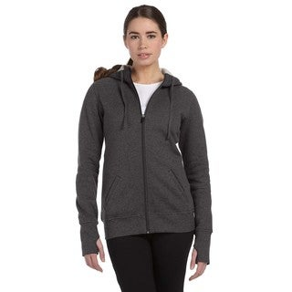 Performance Fleece Women's with Runner's Thumb Dark Grey Heather Full-zip Hoodie