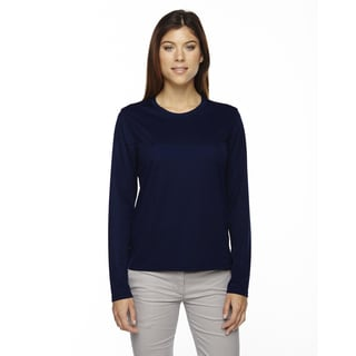 Agility Women's Performance Long-sleeve Pique Crew Neck Classic Navy 849 Shirt