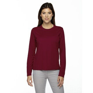 Agility Women's Performance Long-sleeve Pique Crew Neck Classic Red 850 Shirt